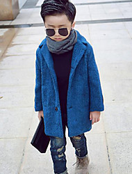 Boy's Casual/Daily Solid Jacket & CoatCotton Winter Blue / Yellow