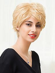 новейший наклонная frisette короткий монолитным парики естественные волнистые человеческие волосы