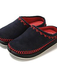 Para Meninos-Tamancos e Mules-Conforto-Rasteiro-Rosa Azul Marinho Azul Real-Tecido-Ar-Livre Casual