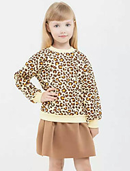 Girls Fashion Europe The United  Sexy Leopard Print Skirt Two-Piece Outfit
