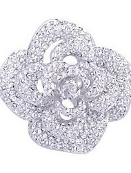 Brooches Non Stone Gemstone & Crystal Candy Pink Flower Style Jewelry Wedding Party Daily Casual
