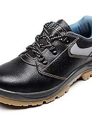 Men's Shoes Cow Leather Platform  Steel Toe Cap Work&Safety Shoes Black