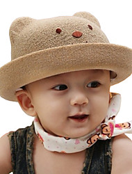 Unisex Fashion Cotton Summer Going out/Casual/Daily Girl Boy Solid Color Bear Sand Beach Headgear Straw Hat Children Cap