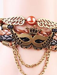 Homme Femme Bracelets Cuir Vintage Gothique Ailes / Plume Café Bijoux 1pc