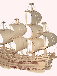 Jigsaw Puzzles Wooden Puzzles Building Blocks DIY Toys Silk Merchant Ship 1 Wood Ivory Model & Building Toy