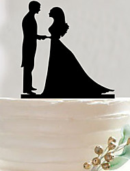Popular in Europe and America the bride and groom acrylic cake inserted fine cake decoration birthday party