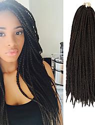 Box Braids Twist Braids Black With Dark Auburn Hair Braids 24Inch Kanekalon 90g Synthetic Hair Extensions