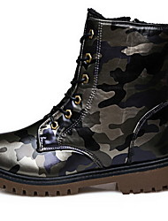 Men's Boots Fall Winter Other Cowhide Outdoor Casual Blue Dark Brown Army Green Navy Other