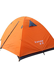 2 persons Tent Double One Room Camping Tent Aluminium PUWaterproof Breathability Dust Proof Windproof Ultra Light(UL) Flannel lined