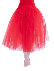 SKIRT ONLY Ballet Tutus & Skirts Women's Children's Performance Cotton Tulle Lycra 1 Piece Natural Long Skirt