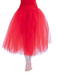 SKIRT ONLY Ballet Tutus & Skirts Women's Children's Performance Cotton Tulle Lycra 1 Piece Natural Long Skirt