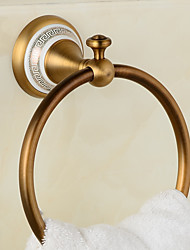 Copper Ceramics Gold Bronze Finished Towel Ring Towel HolderTowel Bar Bathroom Accessories Useful For Bathroom