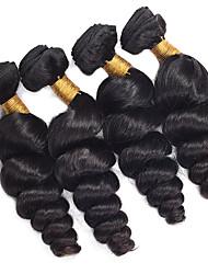 Человека ткет Волосы Бразильские волосы Свободные волны 6 месяца 4 предмета волосы ткет