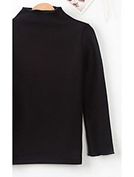 Girl Casual/Daily Solid Blouse,Rayon Spring Fall Long Sleeve