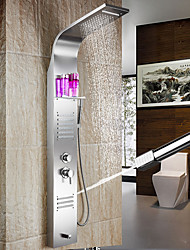 Stainless Steel Finish In Wall Bathroom Rainshower Set Shower Panel Rainfall Massage System Faucet With Jets Hand Shower