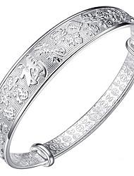 Feminino Bracelete Moda Clássico Prata de Lei Jóias Prata Jóias Para Aniversário 1peça