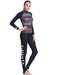 Women's 1mm Dive Skins Full Wetsuits Waterproof Breathable Thermal / Warm Quick Dry Ultraviolet Resistant Wearable Comfortable Sunscreen