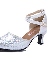 Sequins Latin dancing shoes female adult soft bottom with dancing shoes in summer