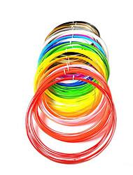 3D Printing Pen PLA Material 1.75mm Supplies (5 Meters 12 Color Kit)