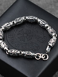 Homens Feminino Bracelete Prata de Lei Moda Vintage Jóias Prateado Jóias 1peça