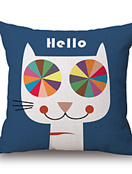 1 PC Europe and the United States Contracted Pillowcase Creative Art Cushion for Leaning On of Cartoon