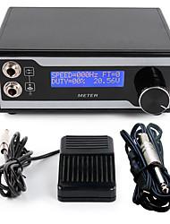 kit cabo de clipe solong tatuagem fonte de alimentação lcd display digital pedal de agulha da máquina de aperto P121