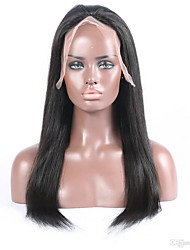 Grade 9A Virgin Human Hair Full Lace Wig Silky Straight Natural Black Color Hair 100% Unprocessed Peruvian Virgin Hair Lace Wig For Woman