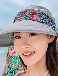 Summer Female Sun Visor UV Protection Big Along The Beach Cap Ladies Sun Hat Sunscreen Folding Removable Cap