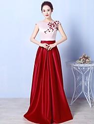 Formal Evening Dress - Beautiful Back Sparkle & Shine Open Back Elegant A-line Scoop Floor-length Jersey withBeading Crystal Detailing