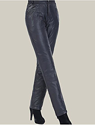 Women's Loose Sweatpants Pants,Casual/Daily Simple Solid Mid Rise Button Cotton Micro-elastic Fall Winter