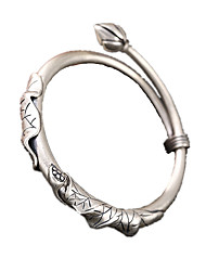 Bracelet Bracelets Rigides Argent sterling Personnalisé Quotidien Décontracté Bijoux Cadeau Argent,1pc