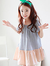 Girl's Casual/Daily Solid Dress Summer Spring Fall Short Sleeve