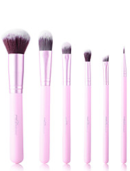 6 Makeup Brushes Set Synthetic Hair Travel / Synthetic MSQ