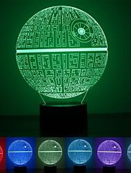 1шт сила пробуждает разноцветная смерть звезды настольная лампа 3d смерть звезды bulbing свет для любителей войн звезды
