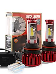 2017 nouvelle puce 120w 10000lm cob 9007 hb5 conduit kit de conversion de phare 2 couleurs 5000K yale 6000k jaune ampoules blanc paire de