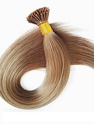de cabelo humano extensões de cabelo brasileiro virgem europeus e americanos i ponta 100strands extensões de seda da Malásia cabelo de