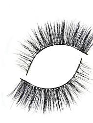 Ресницы Ресницы Ленточные накладные ресницы Глаза Перекрещивающиеся реснички Длиннее на конце Расширенный Black Band 0.25mm 9mm