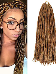 Box Braids Twist Braids Strawberry Blonde Hair Braids 24Inch Kanekalon 90g Synthetic Hair Extensions