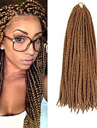 Box Tranças Tranças torção Extensões de cabelo 24Inch fibra sintética 24 Strands costa 90g grama Tranças de cabelo