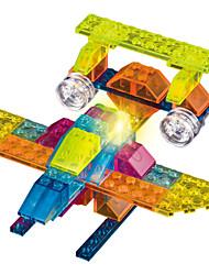4 In 1 DIY KIT Crystal Building Blocks For Gift  Building Blocks Model & Building Toy Fighter ABS 5 to 7 Years Rainbow Toys