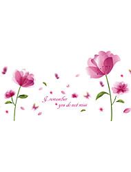 Wall Stickers Wall Decals Style Pink Blossom PVC Wall Stickers