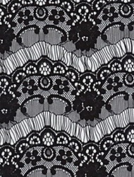 Lace  Black White 1pc Party Cravat & Ascot