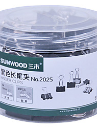 Sunwood® 2025 19 Mm Color Long Tail Clip 40Pcs/Set