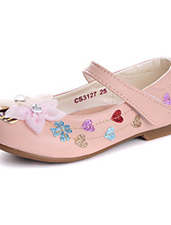 Girl's Flats Spring Fall Comfort Flower Girl Shoes Leatherette Wedding Dress Casual Party & Evening Flat HeelRhinestone Applique