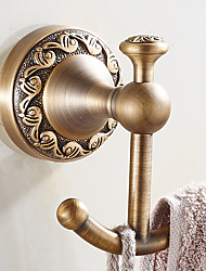 New Arrival Bathroom Accessories European Antique Copper Robe Hook Clothes Hook Coat Hook