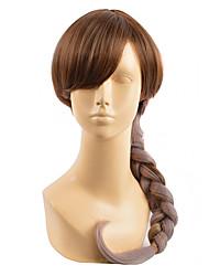 peruca cinza misturado marrom com resistente beleza barato naturais peruca cosplay princesa peruca sintética Elsa calor rabo de cavalo