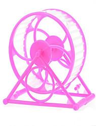 Грызуны Шиншиллы Колесо для упражнений Пластик Розовый Оранжевый