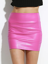 Women PU Skirt , Fleece Lining