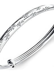 Feminino Bracelete Prata de Lei Natureza Moda Estrela Cobra Prata Jóias 1peça