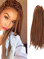 Box Braids Twist Braids Medium Auburn Hair Braids 24Inch Kanekalon 90g Synthetic Hair Extensions